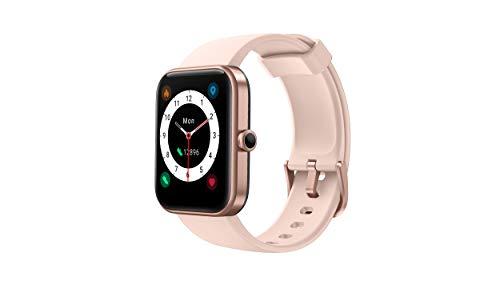 CUBOT ID206 Smartwatch, Fitness Armbanduhr mit 1.69 Zoll Touchscreen, Alexa integriert Smart Watch, Sportuhr, Fitness Tracker, Schlafmonitor, 5ATM Wasserdicht Uhr für Damen Herren (Pink)…