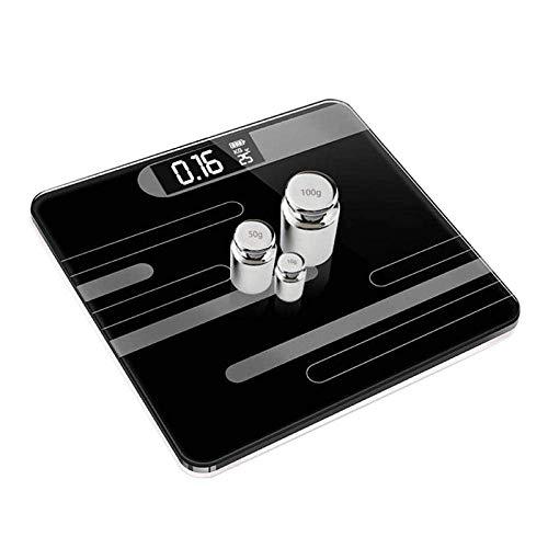 BINGFANG-W Discs Waage Badezimmer Körperwaagen, Smart Electronic Digital-Boden-Gewicht-Balancen Bariatric LCD-Anzeige, 180Kg / 400LB Schwarz Abrasive