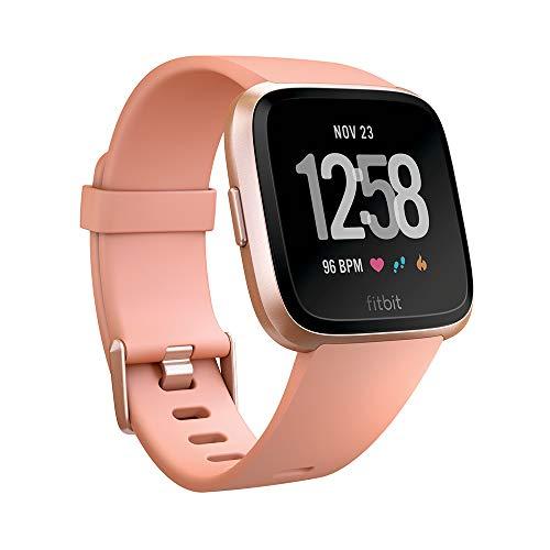 Fitbit Versa, Gesundheits & Fitness Smartwatch mit Herzfrequenzmessung, 4+ Tage Akkulaufzeit & Wasserabweisend bis 50 m Tiefe, Pfirsich