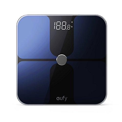 eufy Smarte Personenwaage mit Bluetooth 4.0, Bluetooth Digitale Körperwaage mit großem LED Display, Gewicht/Körperfettanteil/BMI/Fitness und Körperanalyse, kg/lb/st Einheit