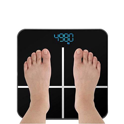 BINGFANG-W Discs Waage Digital-Gewicht-Personenwaage, Körperwaage, Scientific Smart Electronic Waage, Körpergewicht Gleichgewicht, 180kg, Schwarz Abrasive