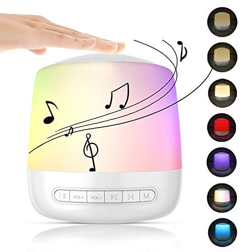White Noise Machine Baby,Einschlafhilfe Weißes Rauschen Maschine mit 28 Natürlichen Klängen,3 Timern,Memory-Funktion und USB-Stromversorgung,Touch Nachtlicht für Kinder/Baby/Erwachsen/Insomniac/Reisen