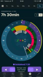 Bei AutoSleep werden unterschiedliche Daten ausgewertet (Screenshot)